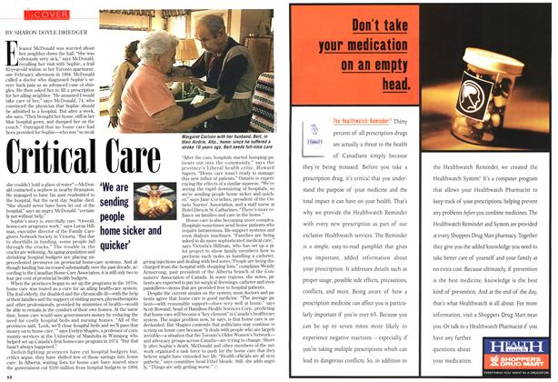 Article Preview: Critical Care, December 1996 | Maclean's