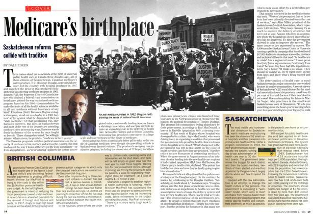 Article Preview: Medicare's birthplace, December 1996 | Maclean's