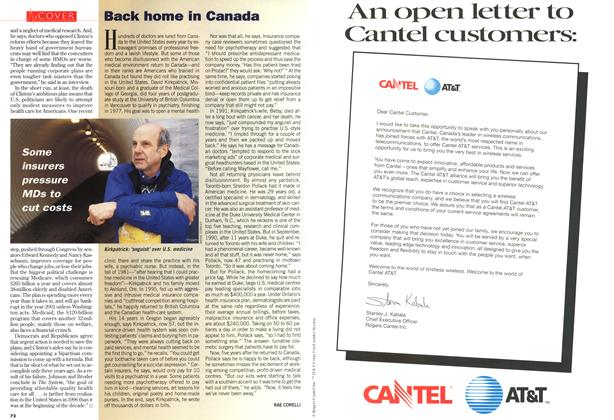 Article Preview: Back home in Canada, December 1996 | Maclean's
