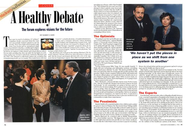 Article Preview: A Healthy Debate, December 1996 | Maclean's