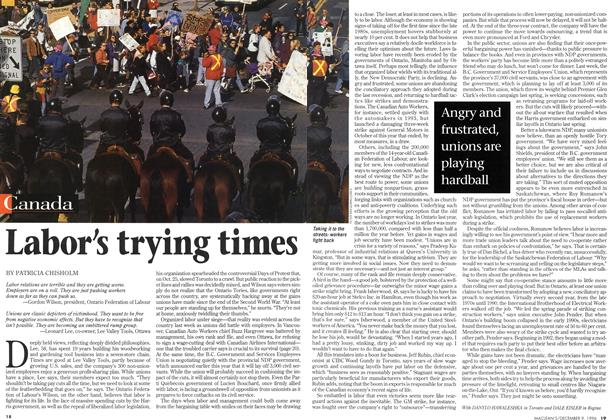 Article Preview: Labor's trying times, December 1996 | Maclean's