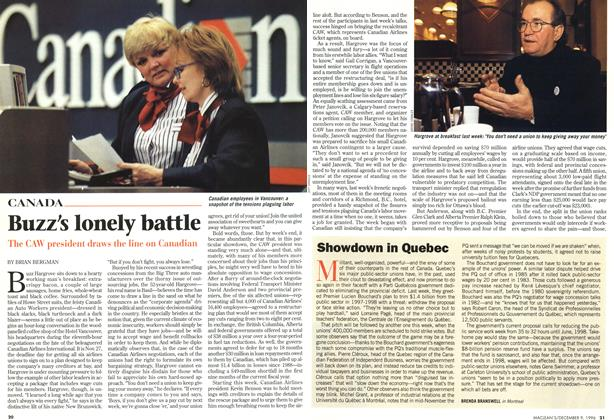 Article Preview: Buzz's lonely battle, December 1996 | Maclean's