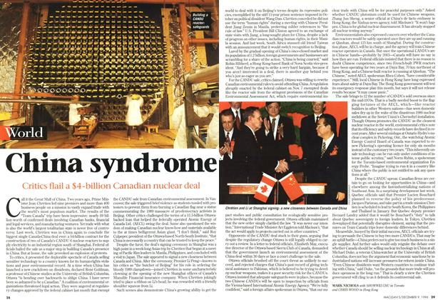 Article Preview: China syndrome, December 1996 | Maclean's