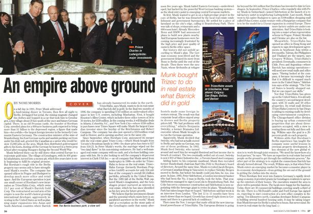 Article Preview: An empire above ground, December 1996 | Maclean's