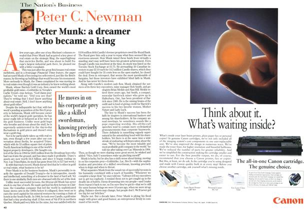Article Preview: Peter Munk: a dreamer who became a king, December 1996 | Maclean's