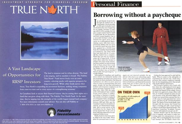 Article Preview: Borrowing without a paycheque, December 1996 | Maclean's
