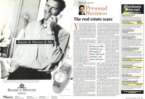 Article Preview: The real estate scare, December 1996 | Maclean's