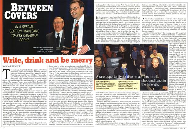 Article Preview: Write, drink and be merry, December 1996 | Maclean's