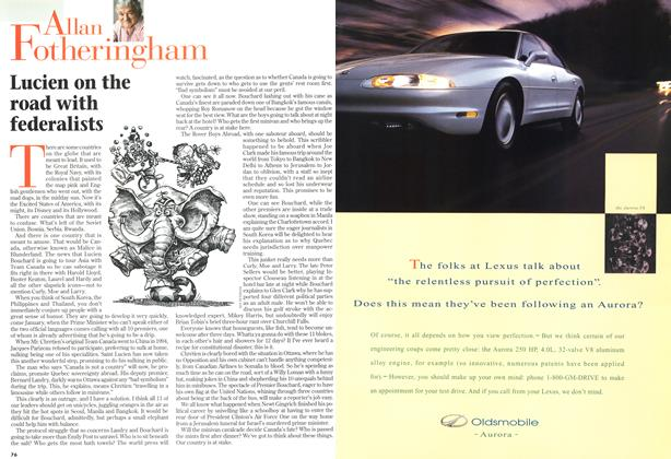 Article Preview: Lucien on the road with federalists, December 1996 | Maclean's