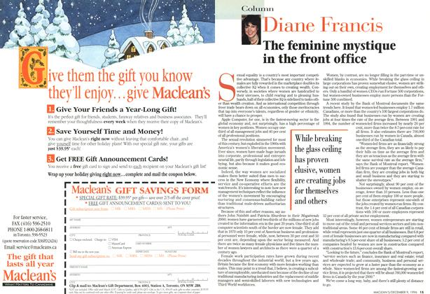 Article Preview: The feminine mystique in the front office, December 1996 | Maclean's