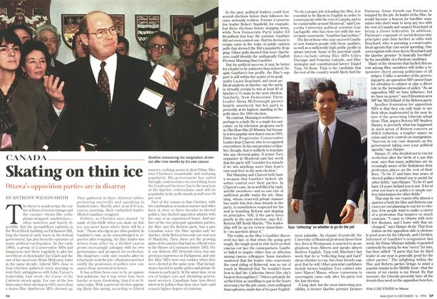 Article Preview: Skating on thin ice, December 1996 | Maclean's
