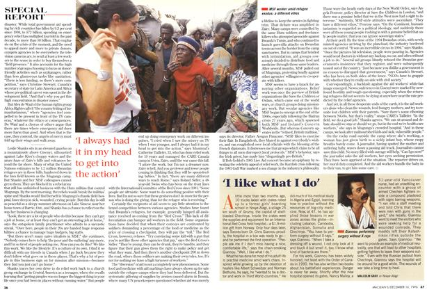 Article Preview: 'I like what I do', December 1996 | Maclean's
