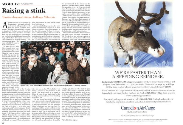 Article Preview: Raising a stink, December 1996 | Maclean's