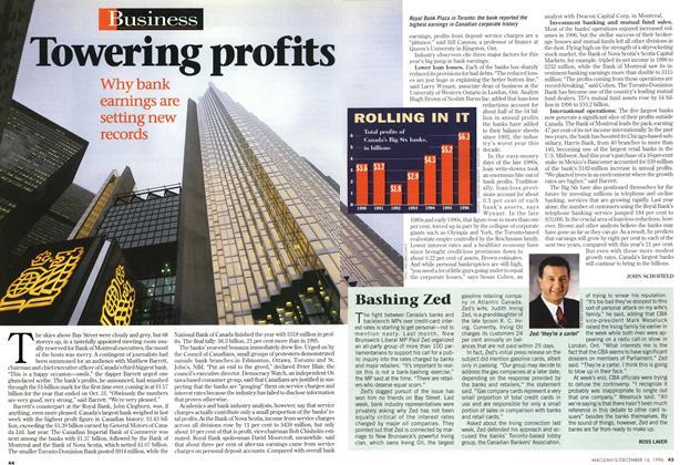 Article Preview: Towering profits, December 1996 | Maclean's