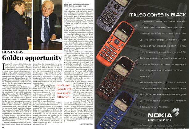 Article Preview: Golden opportunity, December 1996 | Maclean's