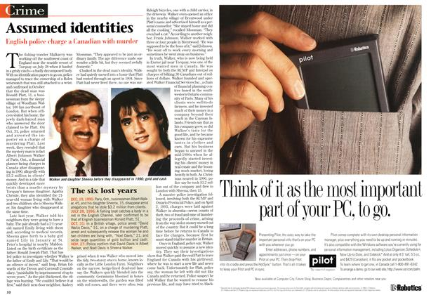 Article Preview: Assumed identities, December 1996 | Maclean's