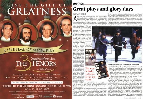 Article Preview: Great plays and glory days, December 1996 | Maclean's