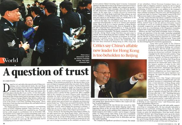 Article Preview: A question of trust, December 1996 | Maclean's