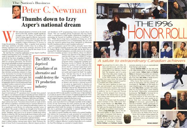 Article Preview: Thumbs down to Izzy Asper's national dream, December 1996 | Maclean's