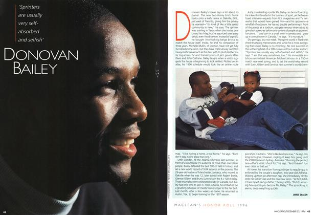 Article Preview: DONOVAN BAILEY, December 1996 | Maclean's