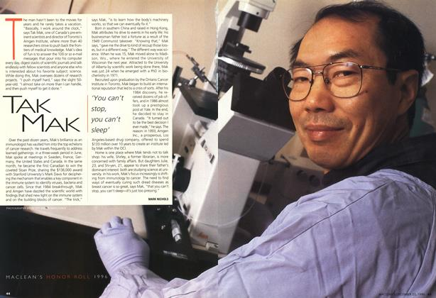 Article Preview: TAK MAK, December 1996 | Maclean's