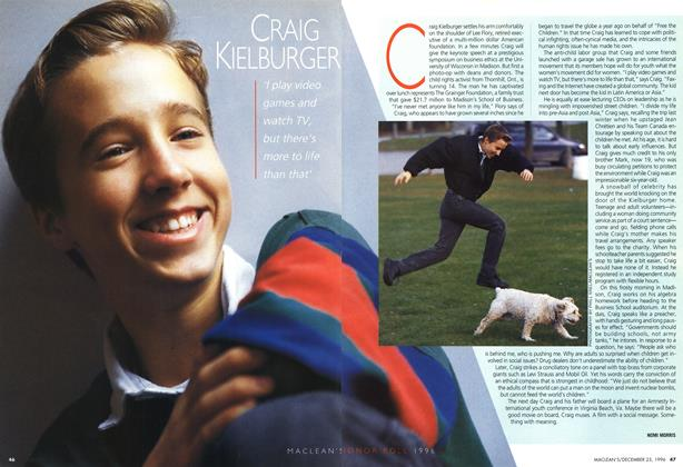 Article Preview: CRAIG KIELBURGER, December 1996 | Maclean's