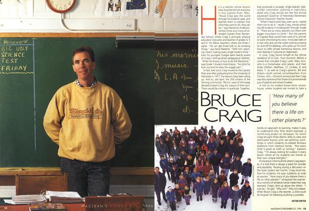 Article Preview: BRUCE CRAIG, December 1996 | Maclean's