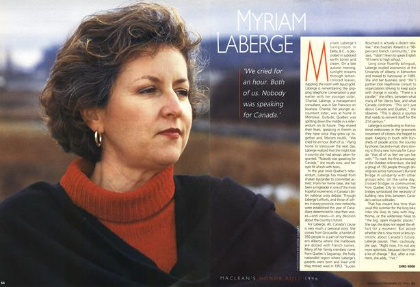 Article Preview: MYRIAM LABERGE, December 1996 | Maclean's