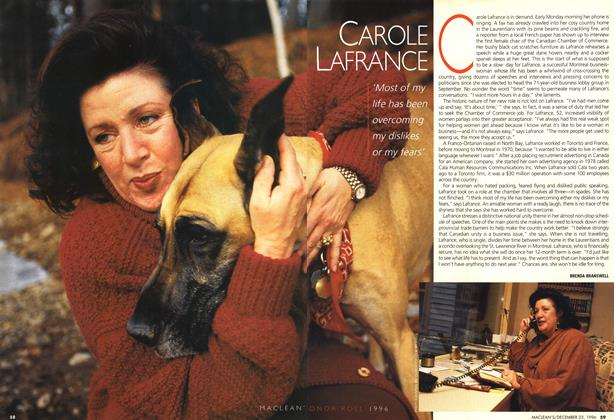 Article Preview: CAROLE LAFRANCE, December 1996 | Maclean's