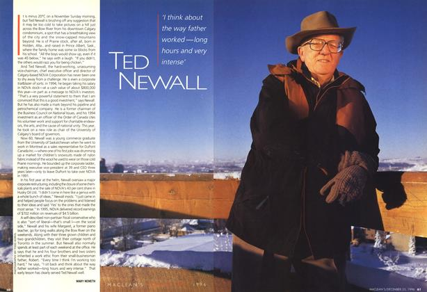 Article Preview: TED NEWALL, December 1996 | Maclean's