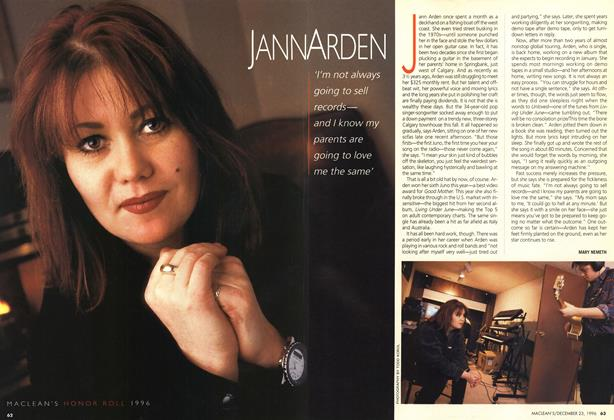 Article Preview: JANN ARDEN, December 1996 | Maclean's