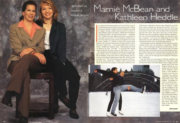Article Preview: Marnie McBean and Kathleen Heddle, December 1996 | Maclean's