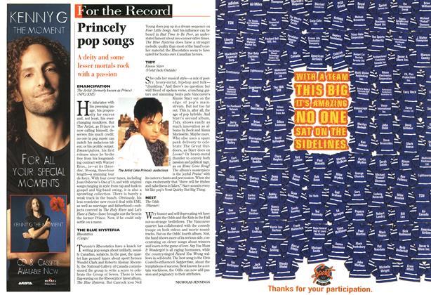 Article Preview: Princely pop songs, December 1996 | Maclean's