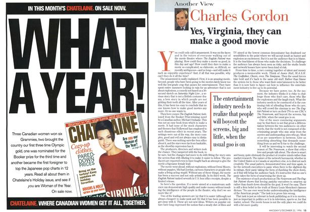 Article Preview: Yes, Virginia, they can make a good movie, December 1996 | Maclean's