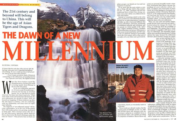 Article Preview: THE DAWN OF A NEW MILLENNIUM, DECEMBER 30, 1996/JANUARY 6, 1977 1996 | Maclean's