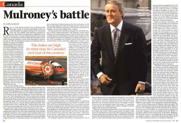 Article Preview: Mulroney's battle, DECEMBER 30, 1996/JANUARY 6, 1977 1996 | Maclean's