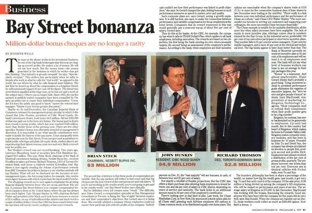 Article Preview: Bay Street bonanza, DECEMBER 30, 1996/JANUARY 6, 1977 1996 | Maclean's