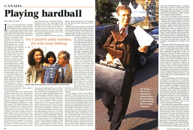 Article Preview: Playing hardball, January 1997 | Maclean's