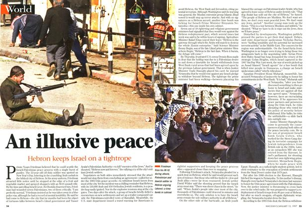 Article Preview: An illusive peace, January 1997 | Maclean's