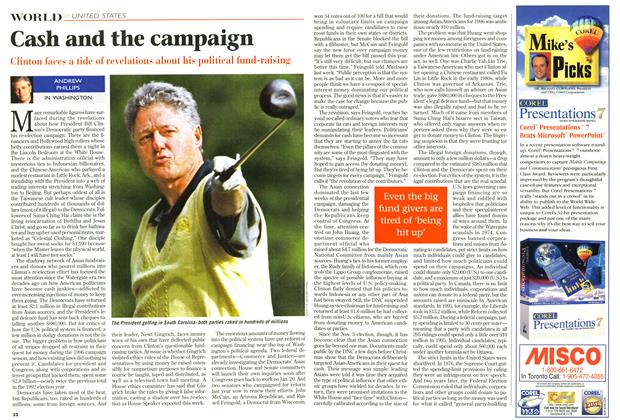 Article Preview: Cash and the campaign, January 1997 | Maclean's