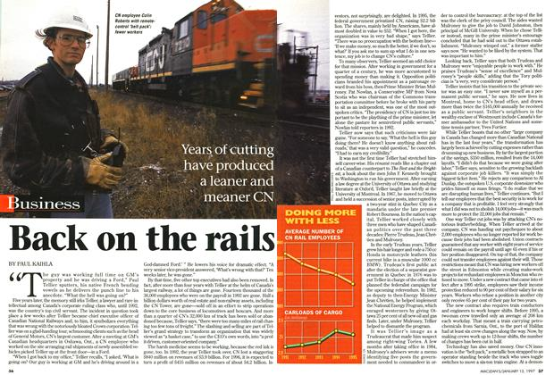 Article Preview: Back on the rails, January 1997 | Maclean's