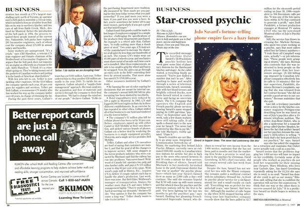 Article Preview: Star-crossed psychic, January 1997   Maclean's