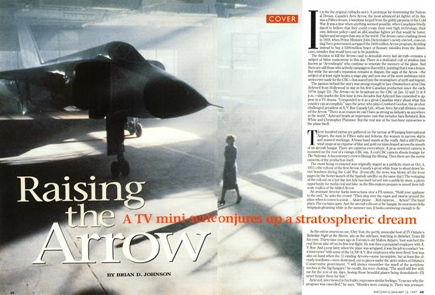 Article Preview: Raising the Arrow, January 1997 | Maclean's