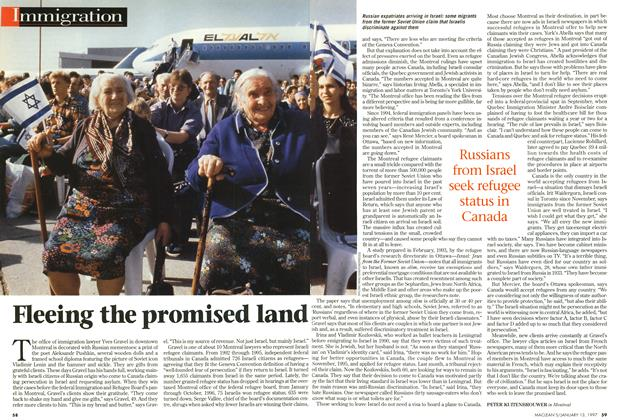 Article Preview: Fleeing the promised land, January 1997 | Maclean's