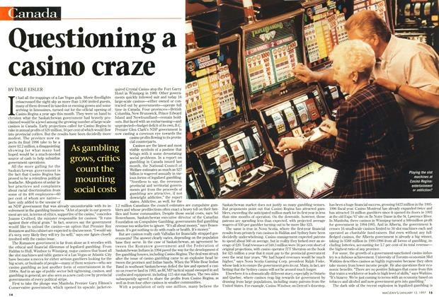 Article Preview: Questioning a casino craze, January 1997 | Maclean's