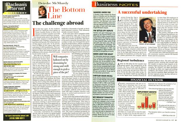Article Preview: The challenge abroad, January 1997 | Maclean's