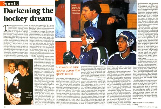 Article Preview: Darkening the hockey dream, January 1997 | Maclean's