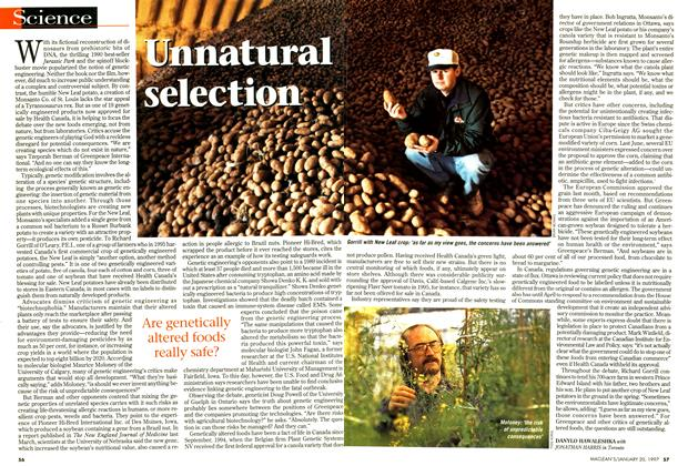 Article Preview: Unnatural selection, January 1997 | Maclean's
