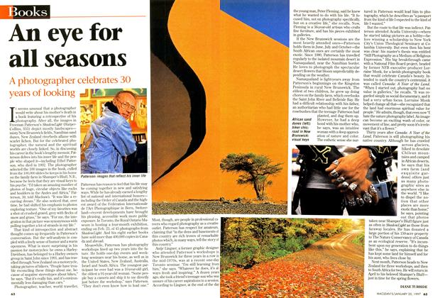 Article Preview: An eye for all seasons, January 1997 | Maclean's