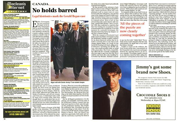 Article Preview: No holds barred, January 1997 | Maclean's